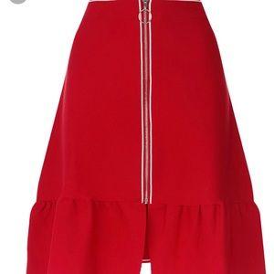 Sandro Eudine Front Zip A-line skirt NWOT